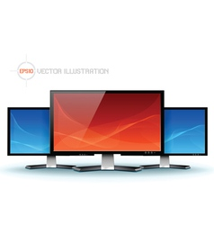 Flat lcd tv monitor vector