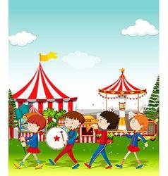 Band playing at the circus vector