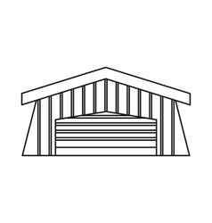 Barn icon outline style vector