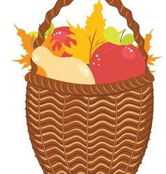 Basket of Pears and Apples2 vector image vector image