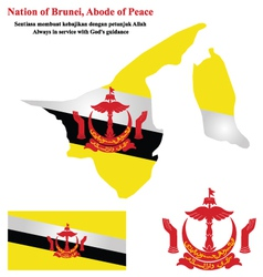 Brunei Flag vector image