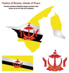 Brunei flag vector