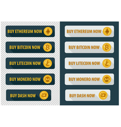 buy bitcoins now icons in a flat style vector image