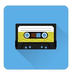 Cassette tape icon vector image