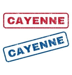 Cayenne rubber stamps vector