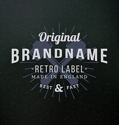 Crossed sledgehammers vintage retro design vector