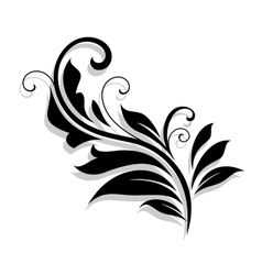 Decorative floral design element vector image