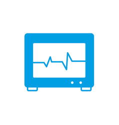 Electro cardio monitor device icon vector