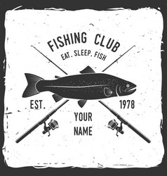 Fishing sport club vector