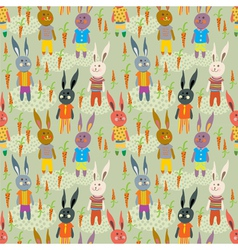 funny hare seamless vector image