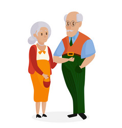 Happy grandparents together isolated grandparents vector