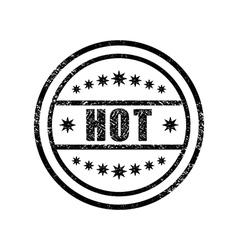 Hot damaged stamp vector