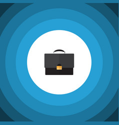 Isolated briefcase flat icon portfolio vector