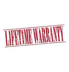 Lifetime warranty red grunge vintage stamp vector