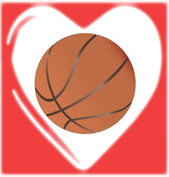 love basketball vector image