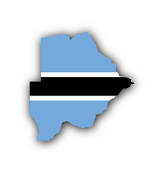 map and flag of botswana vector image vector image