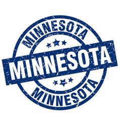 Minnesota blue round grunge stamp vector