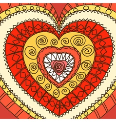 Ornament of hearts vector image vector image
