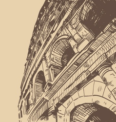 Rome Coliseum drawing vector image