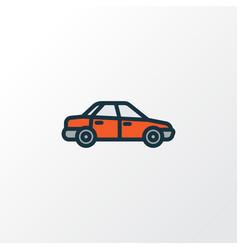 sedan colorful outline symbol premium quality vector image vector image