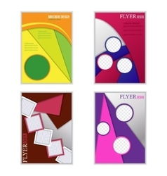set of vertical flyers for design vector image