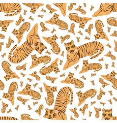 Tigers seamless pattern vector