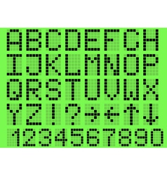Alphabet uppercase vector