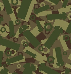 Army texture of nuts and bolts soldier green vector