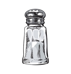 Hand drawn salt mill shaker grinder isolated vector