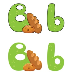 letter B bread vector image