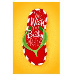 christmas flip flop poster vector image
