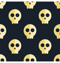 seamless pattern skulls background vector image
