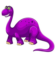 Purple dinosaur standing alone vector