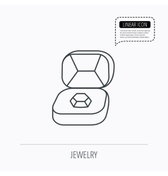 Brilliant jewellery icon engagement sign vector