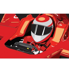 formula one driver vector image