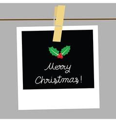 Merry christmas card1 vector
