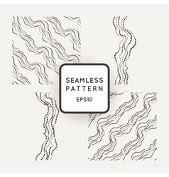 Set of seamless pattern of curved lines vector image