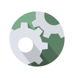 Cogwheel gear mechanism settings icon vector