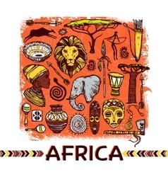Africa sketch vector
