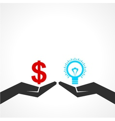 Compare money and idea concept vector image
