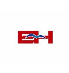 E and h logo vector