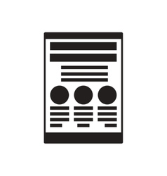 Flat icon in black and white financial report vector