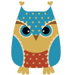 Funny cartoon owl vector image vector image