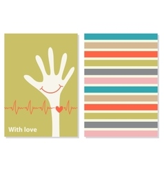 Funny creative card with love vector