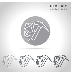 Geology outline icon vector
