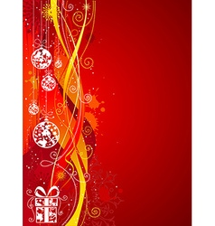 Grunge red Christmas background vector image vector image