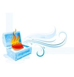 Happy valentines day burning vector