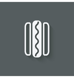 hotdog sausage in bread vector image