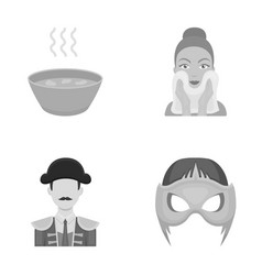 Hygiene nutrition tourist and ot icons in set vector