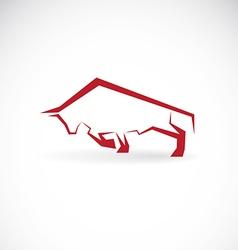 Image of an bull design vector